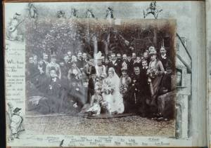 An image of NRO, MC 2738/1, Volume 1, January 1889-August 1891. Begins with Hilda North's wedding to Major John Zigomala at Rougham on 16 January 1889 and their honeymoon (London, Paris, then Monte Carlo).
