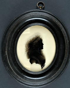 An image of NRO, MC 2784/G/1 Gurney of Northrepps Family Papers, Silhouette of Amelia Alderson 1790s,