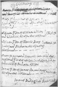 An image of NRO, PD 633/3 Whissonsett parish register. 1731-74, Mary Raven's baptism entry dated 27 December 1733