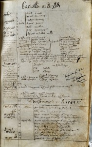 An image of Wells next the Sea parish register. Burial entry. NRO, PD 679/1