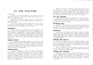 An image of NRO, HEN 43/104, 561X3 Election address of Dorothy Jewson and W.R. Smith, October 1924