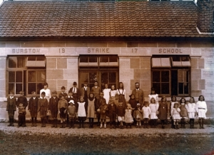 An image of Burston School c. 1917. Picture Norfolk - NP00000129