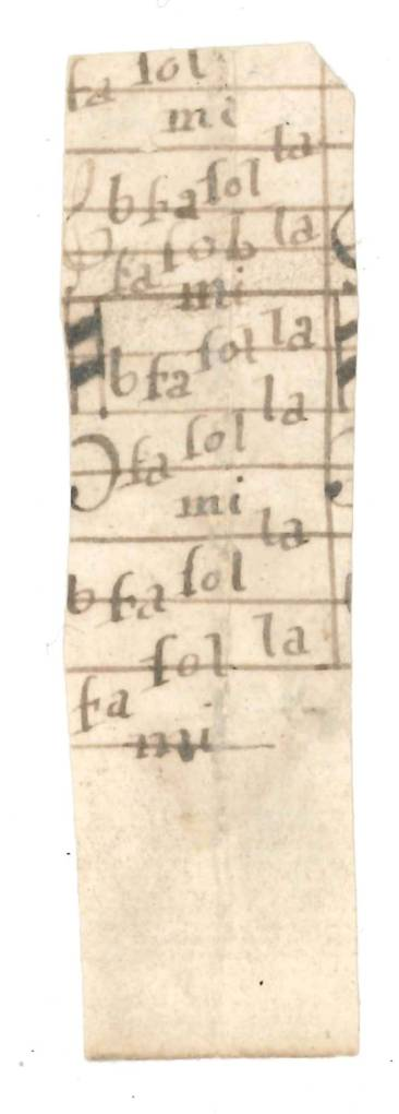 An image of NRO, PD 321/68 Wramplingham parish deposit, fragment of music in tonic sol-fa late 18th century.