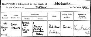 NRO, PD 659/3Sandringham Baptism Register 1813-1992