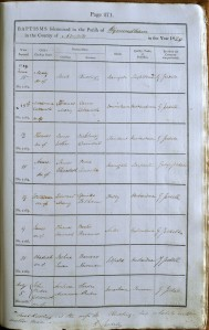 An image of NRO, PD 184/5 Mary Rudling's baptism entry in the 1829 Wymondham baptism register