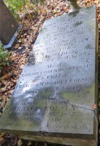 An image of Ann Drummond's grave, in Rosary Road Cemetery.