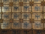 An image of Detail of Eagle Ward ceiling, St Helen's Church, Norwich
