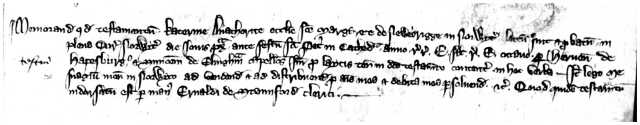 An image of City of Norwich Court Rolls. Will of Katherine anchoress of St Margarets, Newbrigge. 1314-5 NRO, NCR case 17m 9
